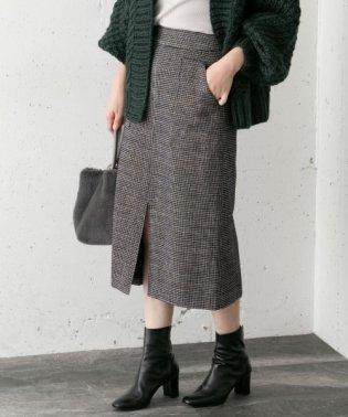 モールチェックタイトスカート
