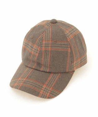 グレンチェック柄CAP