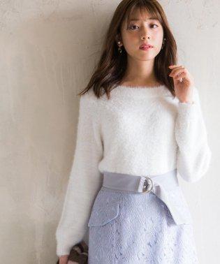 【美人百花11月号掲載】2WAYラメフェザーニット