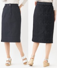 異素材ロングタイトスカート