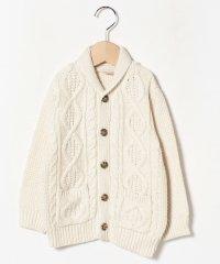 アラン編み長袖カーディガン