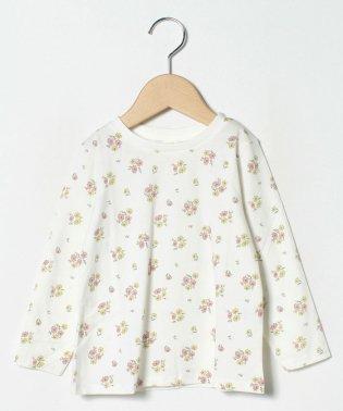 【オーガニックコットン】花柄カットソー