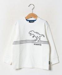 恐竜ライン刺繍長袖Tシャツ
