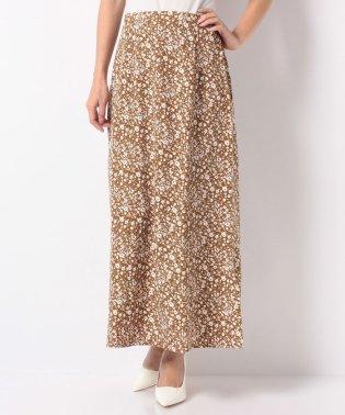ジョーゼット花柄マーメイドロングスカート