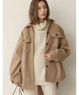 秋冬の大注目アイテムで最旬コーデに仕上げる フェイクウールCPOシャツジャケット ジャケット/アウター/その他アウター