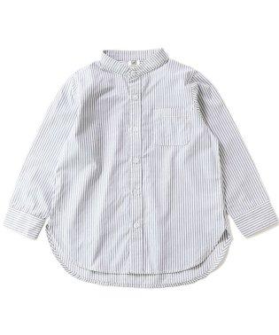 スタンドカラーロング丈シャツ
