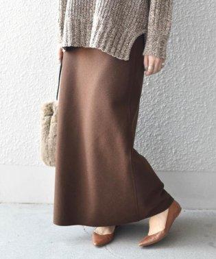 《追加予約》Khaju:ウールブレンドセミフレアスカート