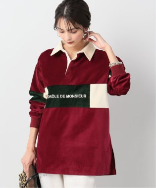 【DROLE DE MONSIEUR / ドロールドムッシュ】Velvet Paneled ポロシャツ