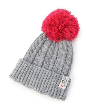 BIGポンポン配色ニット帽
