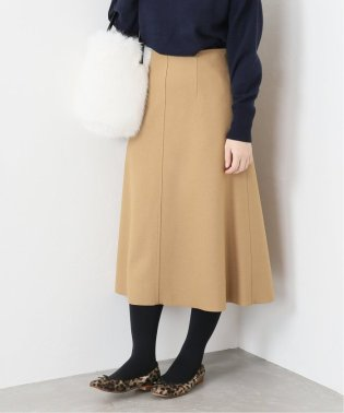 圧縮ウールフレアースカート◆