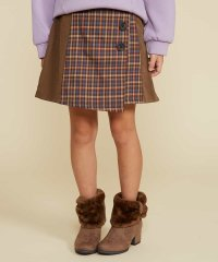 [140-150]チェックキリカエ台形スカート