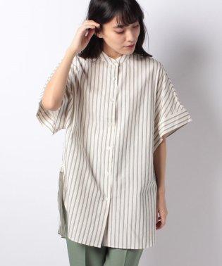 【Lui's】レディースバンドカラーオーバーシャツ