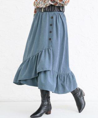 『n'Orフリルラップ風デザインスカート』