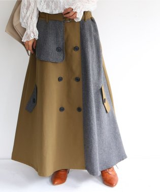 『n'Or異素材トレンチスカート』