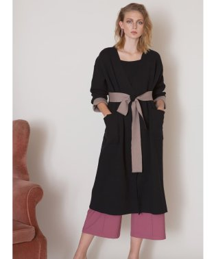 Double Cloth Smooth Knit Gown