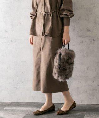 【スタイリスト川上さやか×ROSSO】ストレッチスエードタイトスカート