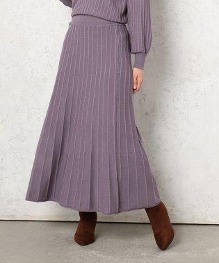 ストライプジャガードニットスカート