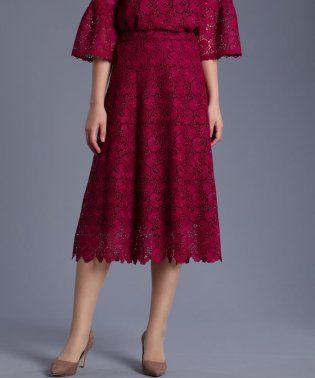 《Maglie White》トルコレースフレアスカート