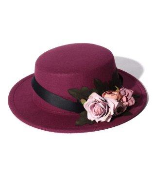 フラワーブーケカンカン帽