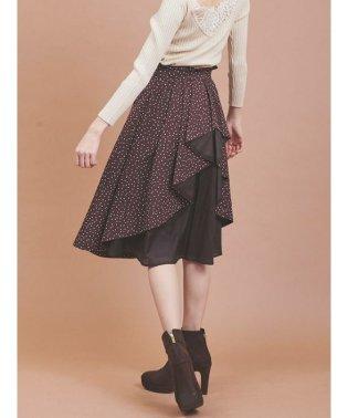 バックフリルデザインスカート