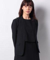 【セットアップ対応商品】【noir】シャリ感ストレッチカラーレスジャケット