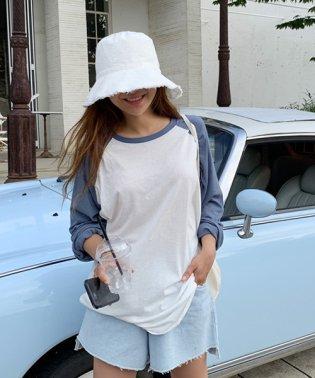 NANING9(ナンニング)ゆるフィットラグランTシャツ