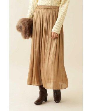  and GIRL 1月号掲載 [洗える]サテンギャザースカート