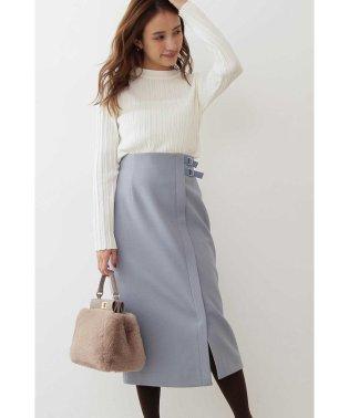 ◆サイドベルト付きラップ風タイトスカート