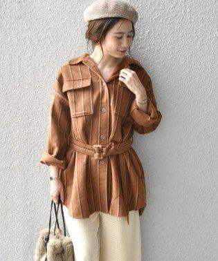Khaju:ストライプシャツジャケット