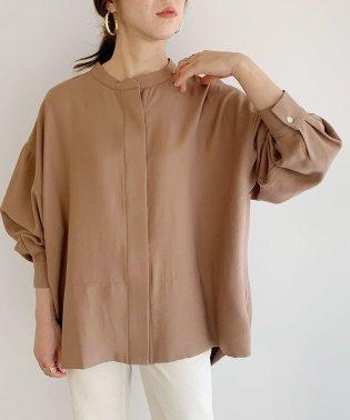【2WAY】タックドレープオーバーシャツ