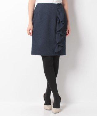 縦フリルタイトスカート