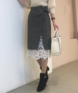 【美人百花11月号掲載】裾レースラップタイトスカート