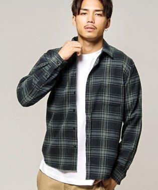 VICCI【ビッチ】21S綿ビエラチェック柄起毛レギュラーカラー長袖シャツ