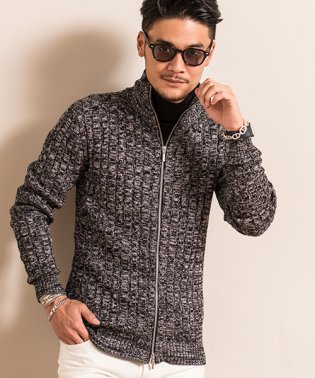 VICCI【ビッチ】ケーブル編みハイネックジップ長袖ジャケット
