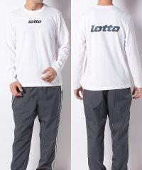 ロット/メンズ/バックプリント長袖Tシャツ