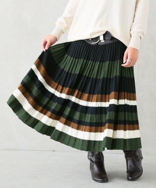 『n'Orマルチボーダープリーツニットスカート』
