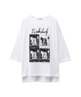 T-GRAPHICS ティーグラフィックス フォトプリント5分袖Tシャツ EJ195-WC163