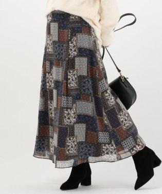 Khaju:パネルプリントスカート