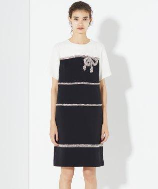 リボンビジュー刺繍ドレス