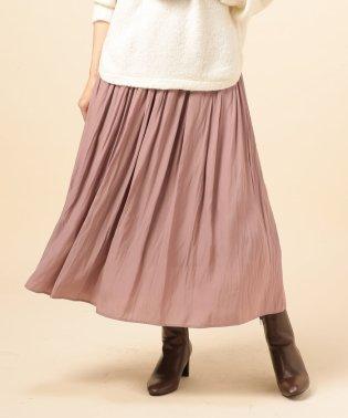 割繊デシンギャザーロングスカート