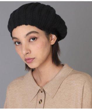リブニットベレー帽