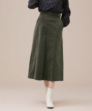 W釦コーデュロイスカート