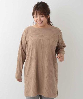 【大きいサイズ】ケーブル編み模様チュニック