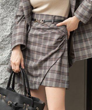 ラップミニデザインスカート