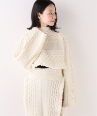 【TAN】 LAMBS CABLE BOLERO ニット