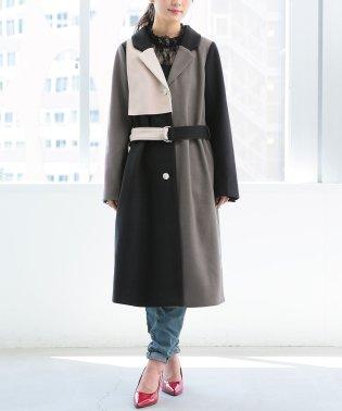 『somari配色デザインメルトンコート』