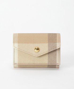 クレストブリッジチェックPVC三つ折り財布