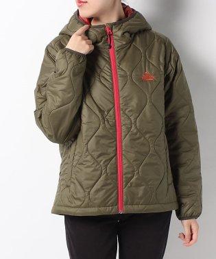 タラスブルバ/レディス/レディース キルティングインサレーションフーディッドジャケット