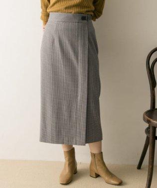 ミニベルト付きタイトスカート