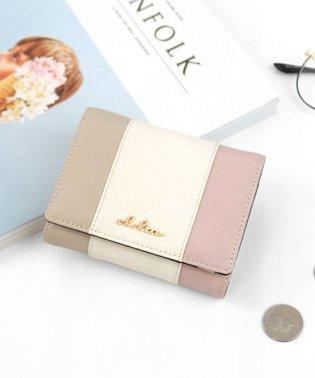 折り財布 レディース Clelia クレリア リベルテシリーズ トリコロール 二つ折り 大容量 コンパクト かわいい おしゃれ ショートウォレット Clelia